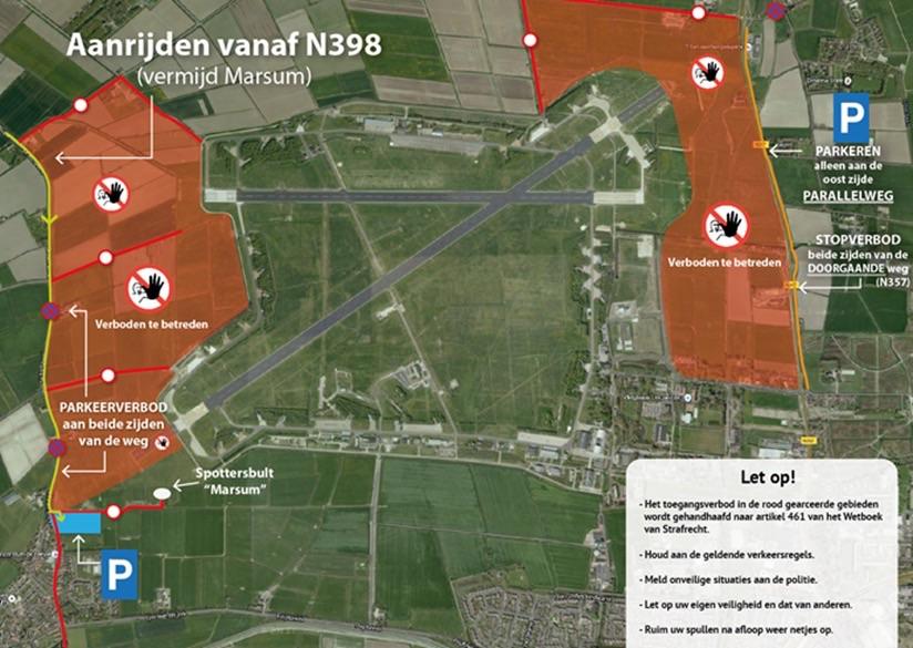 Maatregelen tijdens aankomst F-35 op vliegbasis Leeuwarden
