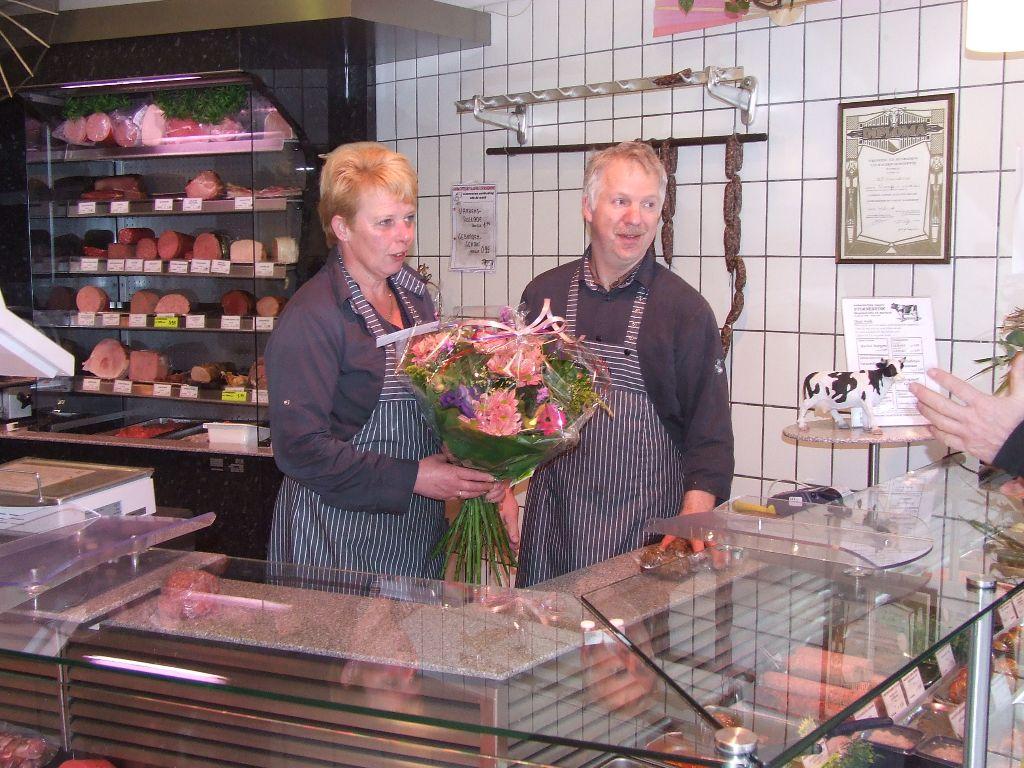 25-jarig jubileum slagerij Stornebrink