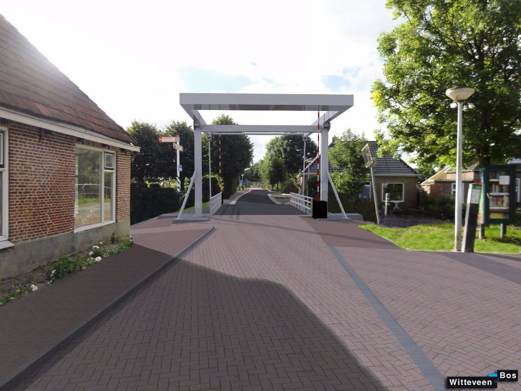 Nieuwe brug in Ritsumasyl wordt in pronkje