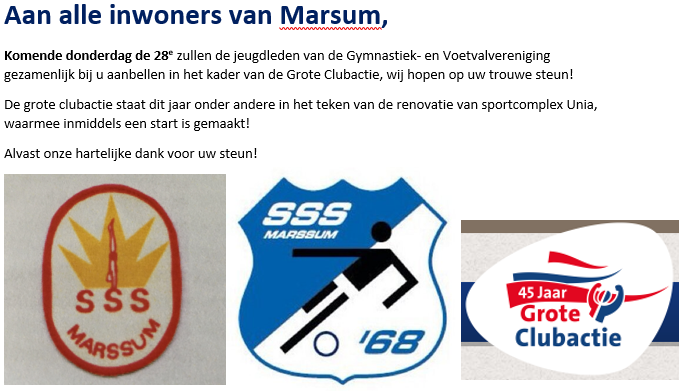 Grote clubactie SSS'68