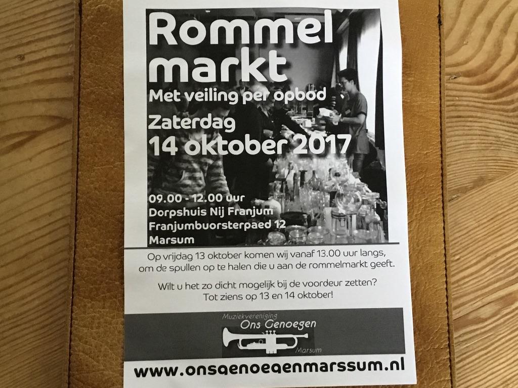 Rommelmarkt met veiling per opbod