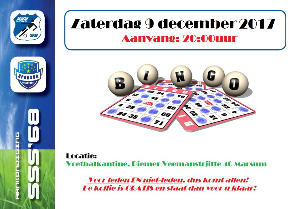 Bingo - Zaterdag 9 december 2017
