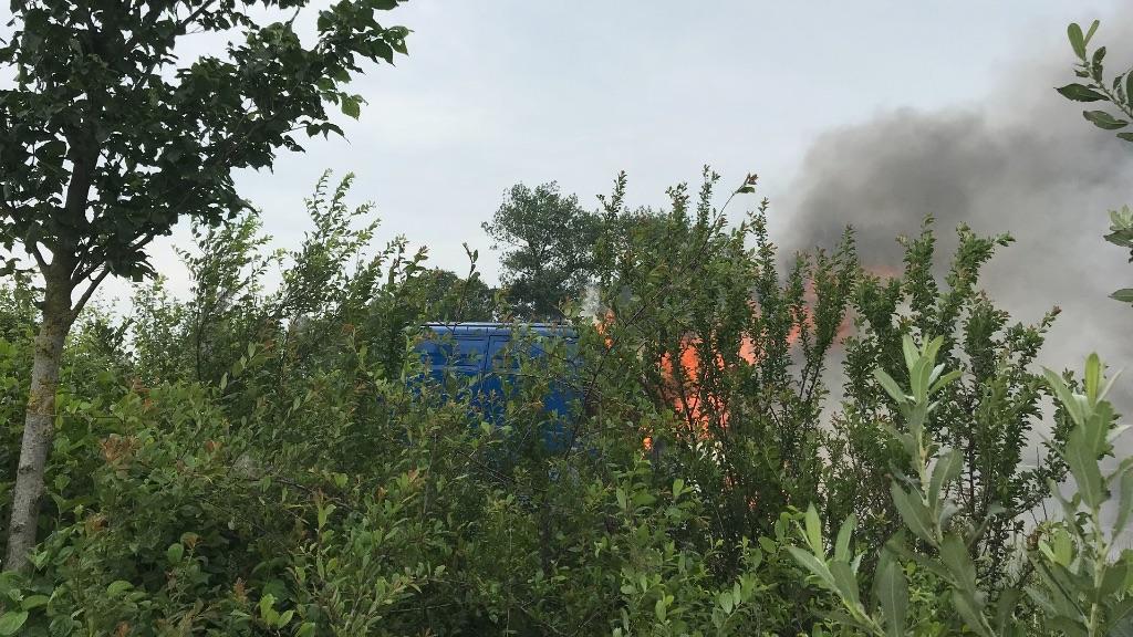 Opnieuw brand in voertuig