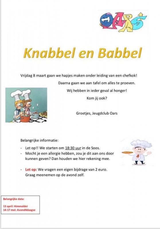 Jeugdclub Oars Knabbel en Babbel