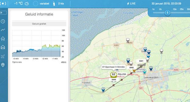 Website geluidsmeetnet vliegbasis Leeuwarden in de lucht – update