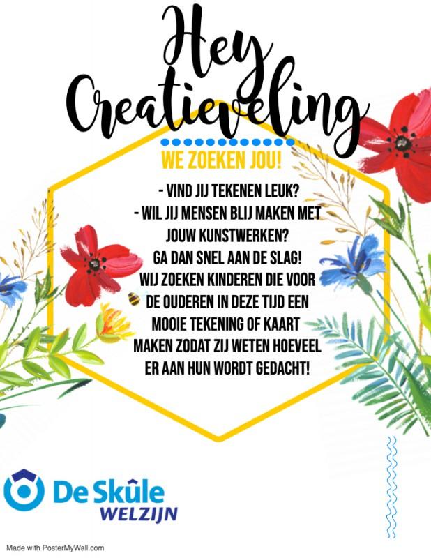 Oproep voor creatieve kids
