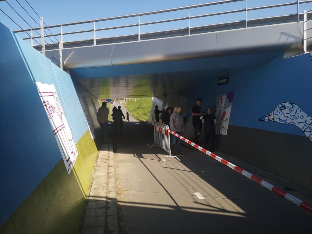 Graffitiproject Dotingatunnel: werk in uitvoering